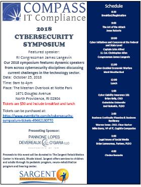 2018 Cybersecurity Symposium Brochure