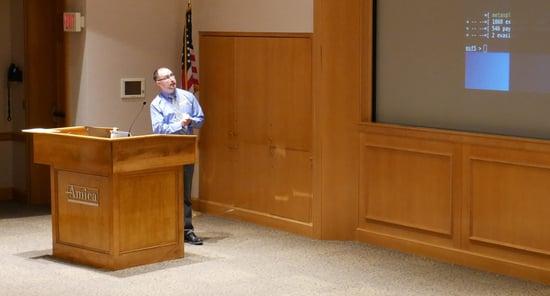 Jesse Speaking at RI JCTF Meeting