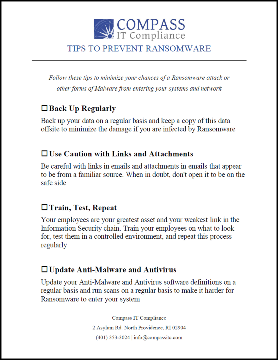 Tips to Prevent Ransomware