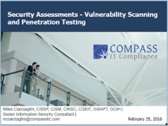 Vulnerability Scanning and Penetration Testing Presentation