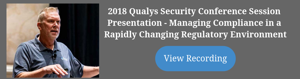 2018 Qualys Security Conference Session Presentation
